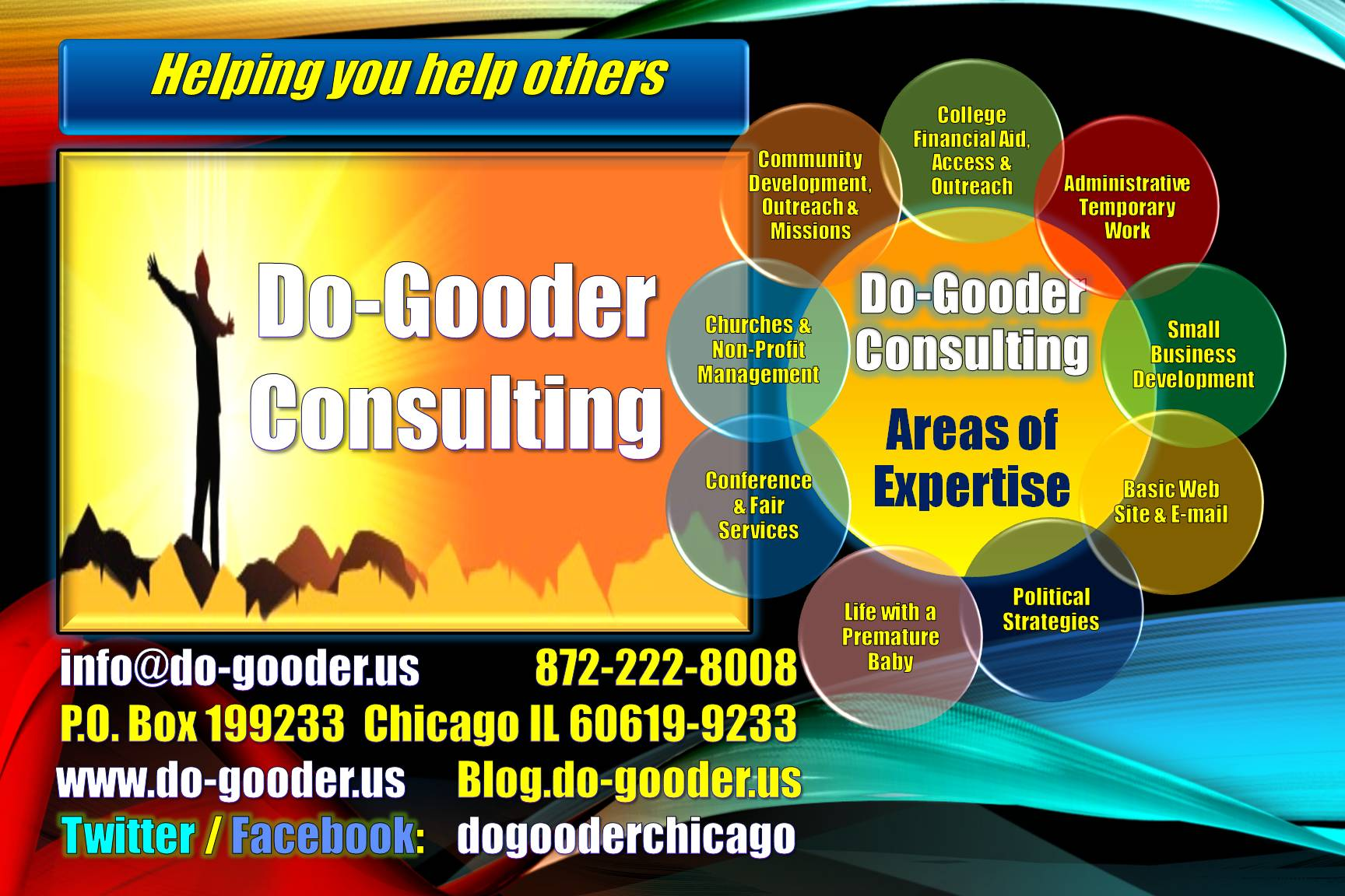 Do-Gooder Contact info = 4 x 6 photo